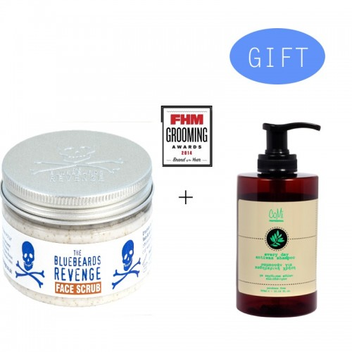 BBR Face Scrub 100gr + Gift 1 Comi Every Day Antiwax Shampoo 300ml