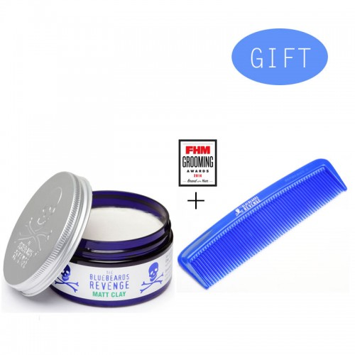 BBR Clay Hair Paste 100ml + Δώρο 1 BBR Moustache Comb